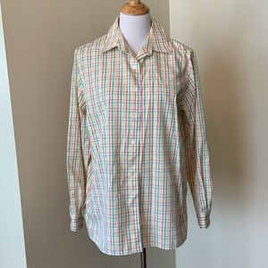 Foxcroft wrinkle free plaid button down shirt